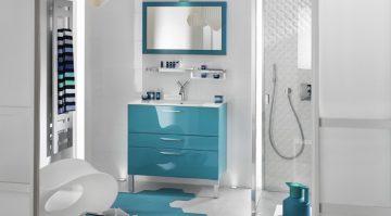meuble de salle de bains de couleur