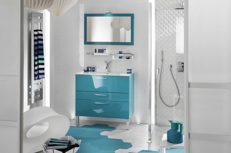 meuble de salle de bains de couleur. Black Bedroom Furniture Sets. Home Design Ideas