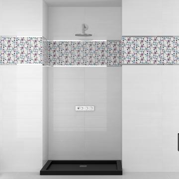 Carrelage motifs g om triques mood - Carrelage salle de bain avec motif ...
