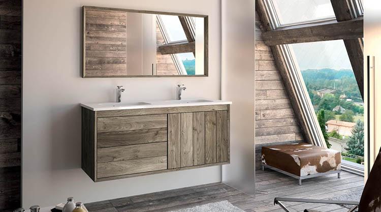 meuble de salle de bains en bois massif