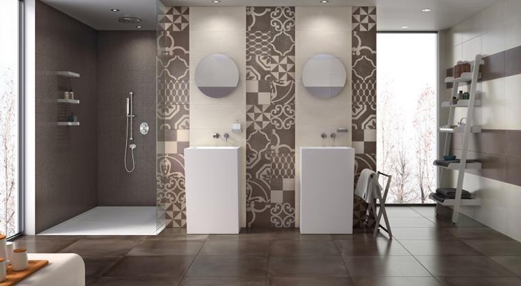 Salle de bains style renaissance argille for Meuble 45x45