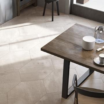 Carrelage aspect ciment creative concrete for Carrelage 90x90 blanc
