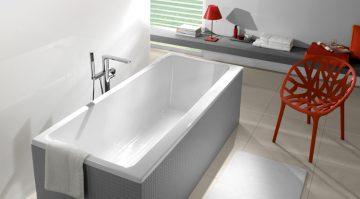 baignoire acrylique blanc