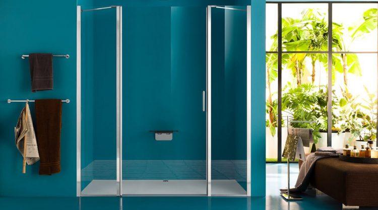 porte douche battant