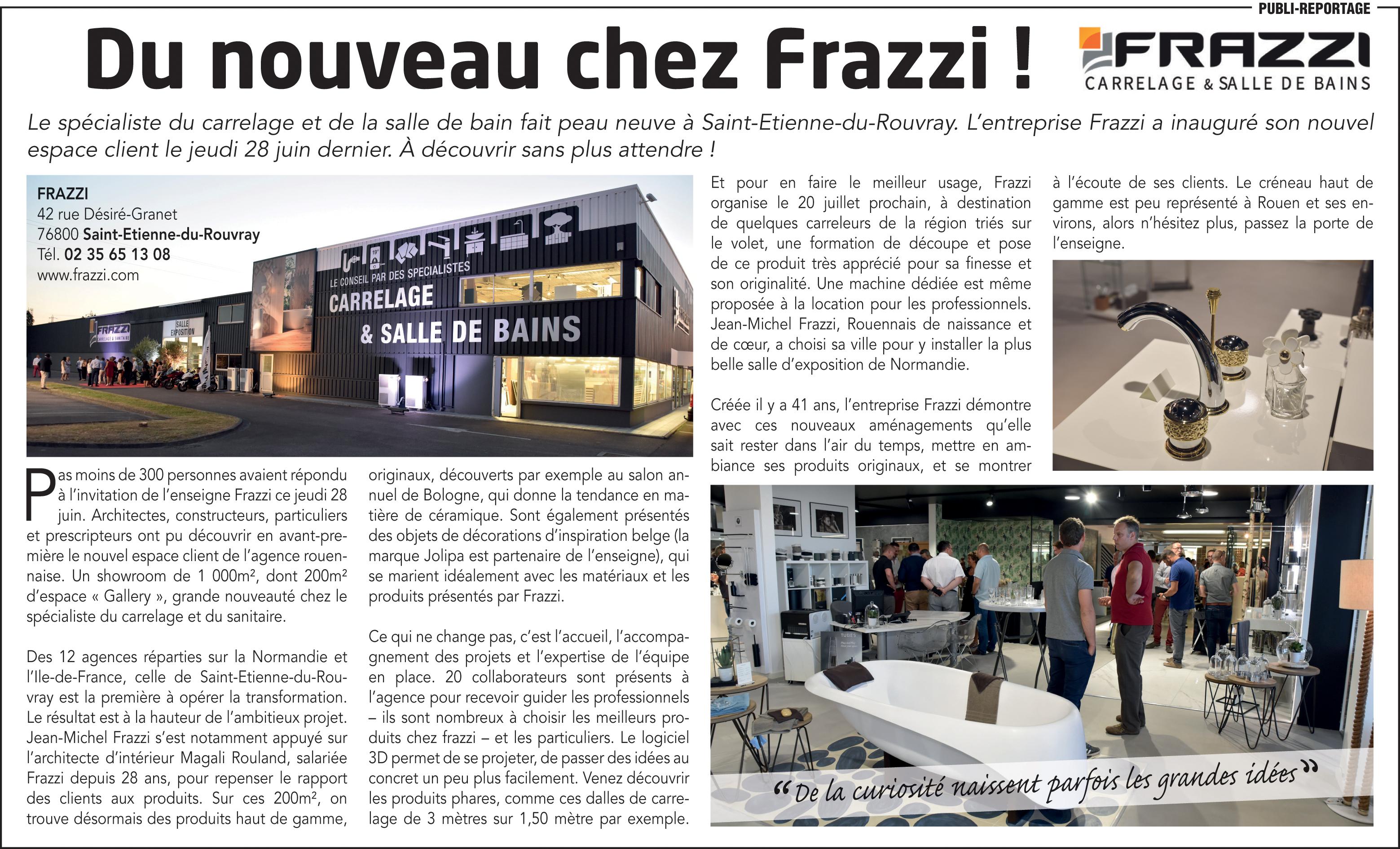 Carrelage Mural Salle De Bain Frazzi ~ presse paris normandie juillet 2018