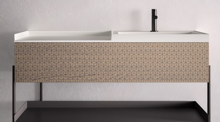 meuble salle de bains industrial